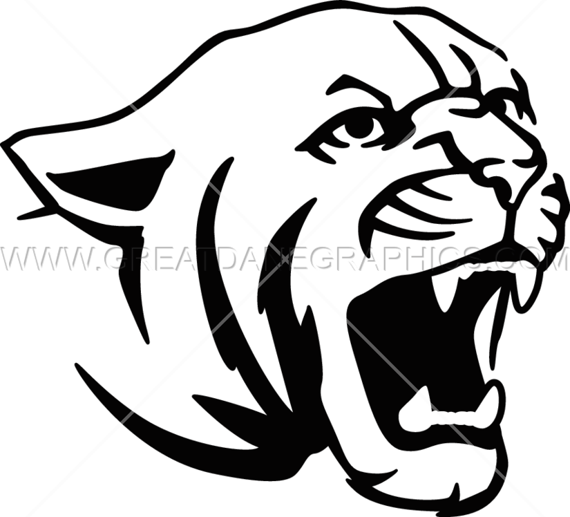 Cougar clipart svg.  collection of face