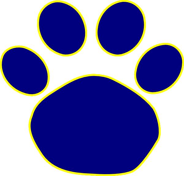 paw clipart blue bulldog