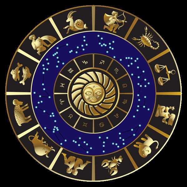 Wheel clipart astrology. Zodiac horoscop png image