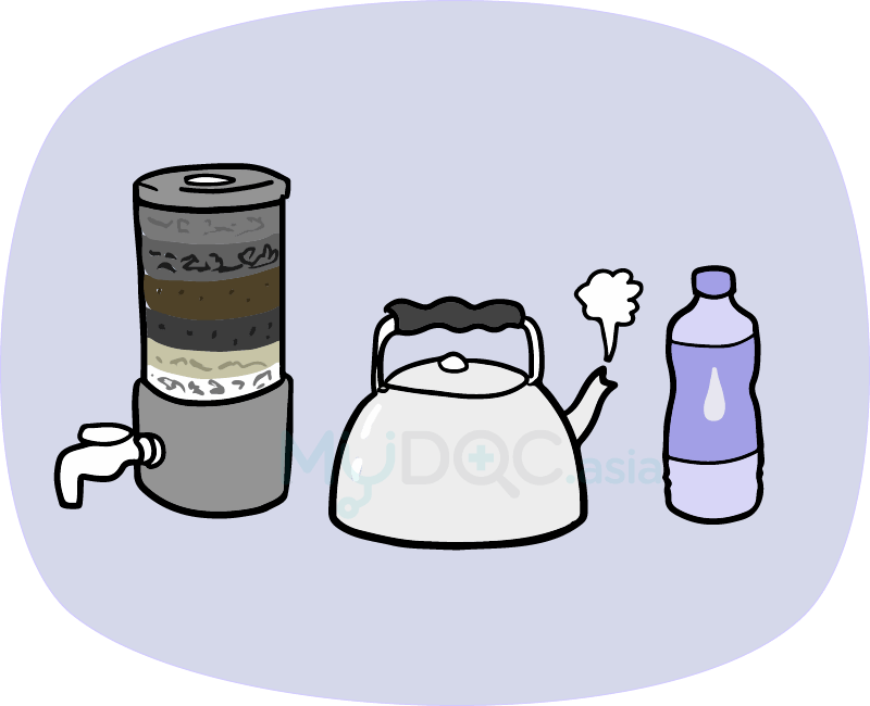 Are you drinking pollutant. Cough clipart acute disease