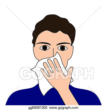 Vector art your drawing. Flu clipart cover cough