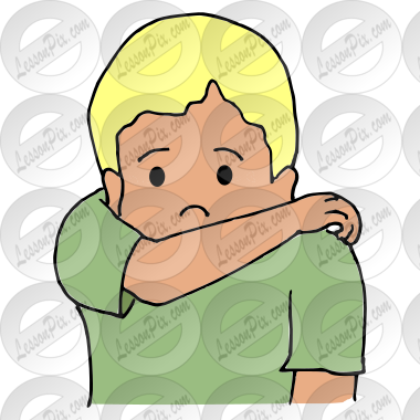 Cough clipart elbow. In picture for classroom