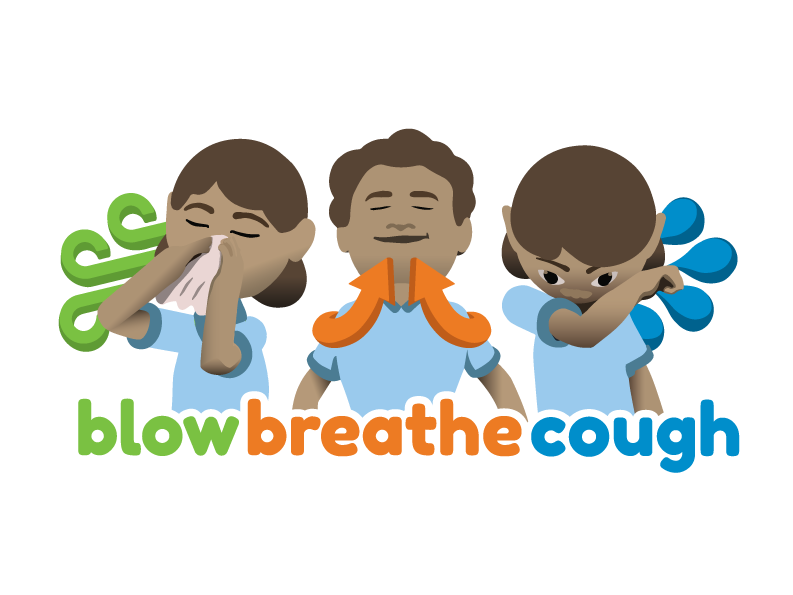 Domenica designs blow breathe. Elbow clipart cough