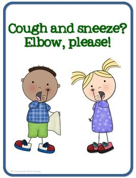 Cough clipart elbow. And sneeze please free