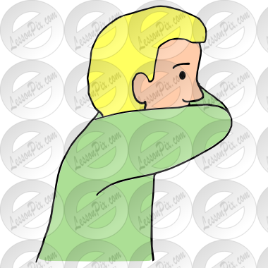 In picture for classroom. Cough clipart elbow
