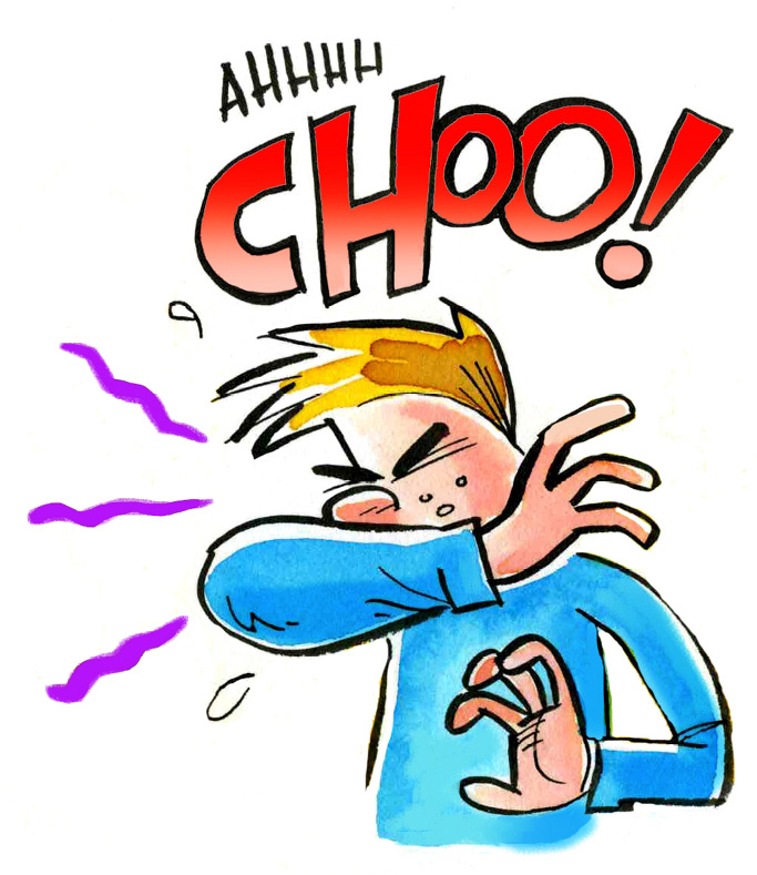 Download sneeze into your. Cough clipart elbow