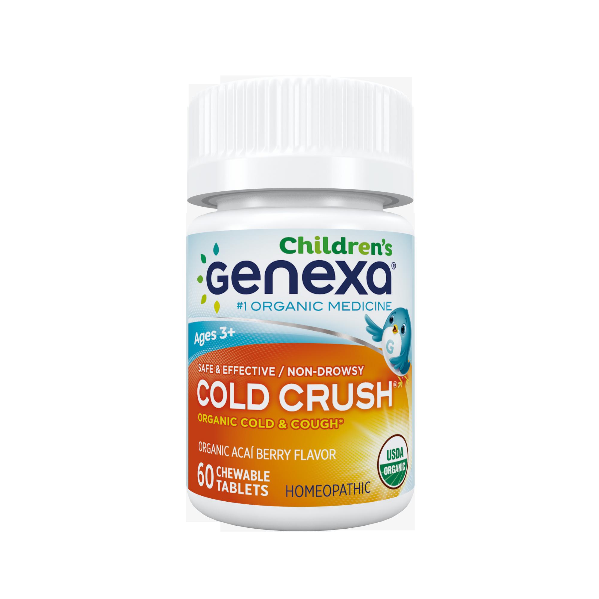 Genexa homeopathic cold crush. Cough clipart liquid medicine