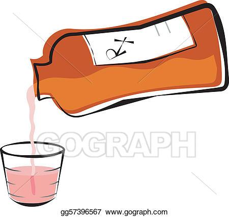 Eps vector liquid prescription. Medication clipart medicine cup
