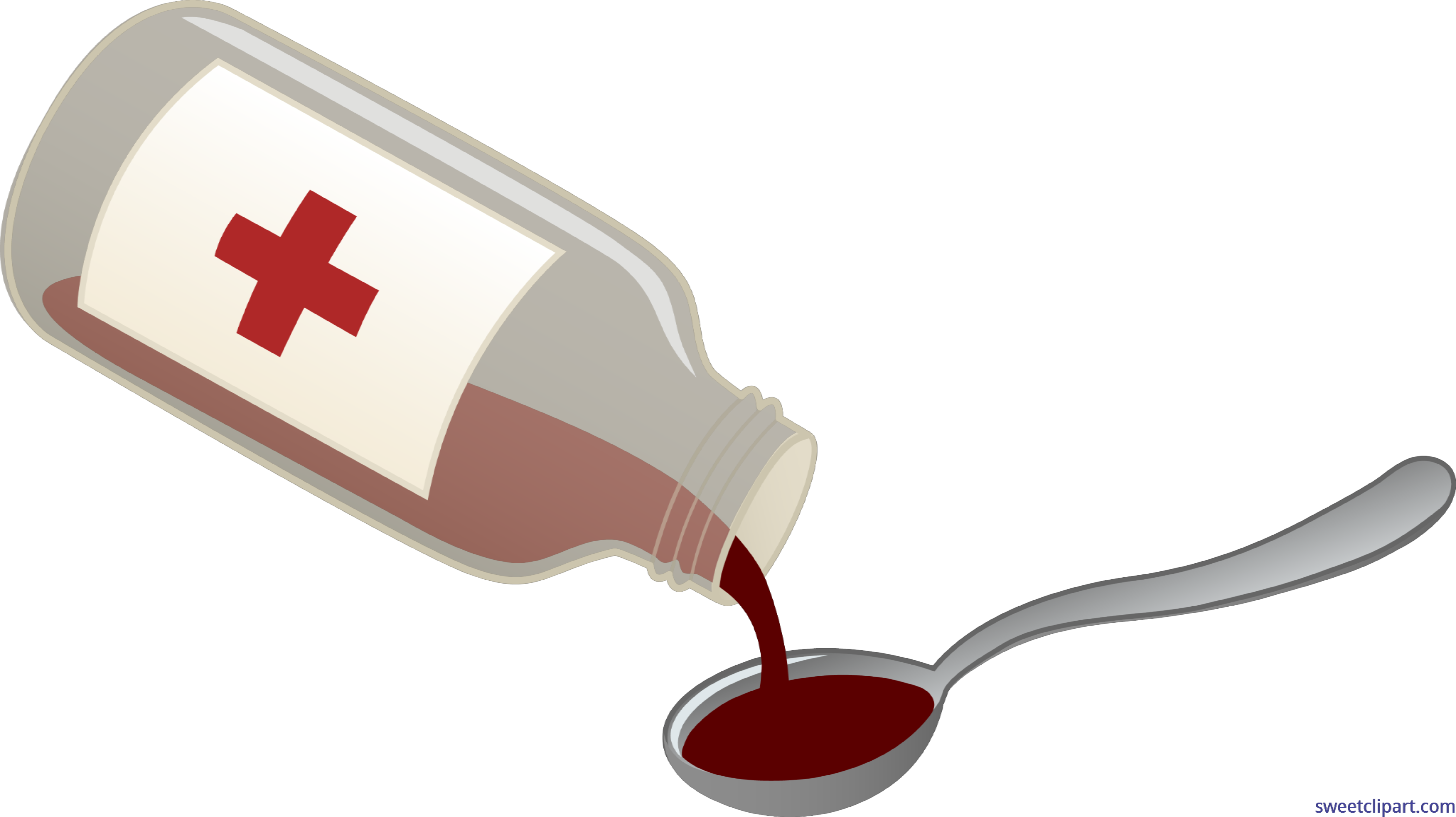 Flag clipart post. Cough syrup spoon clip