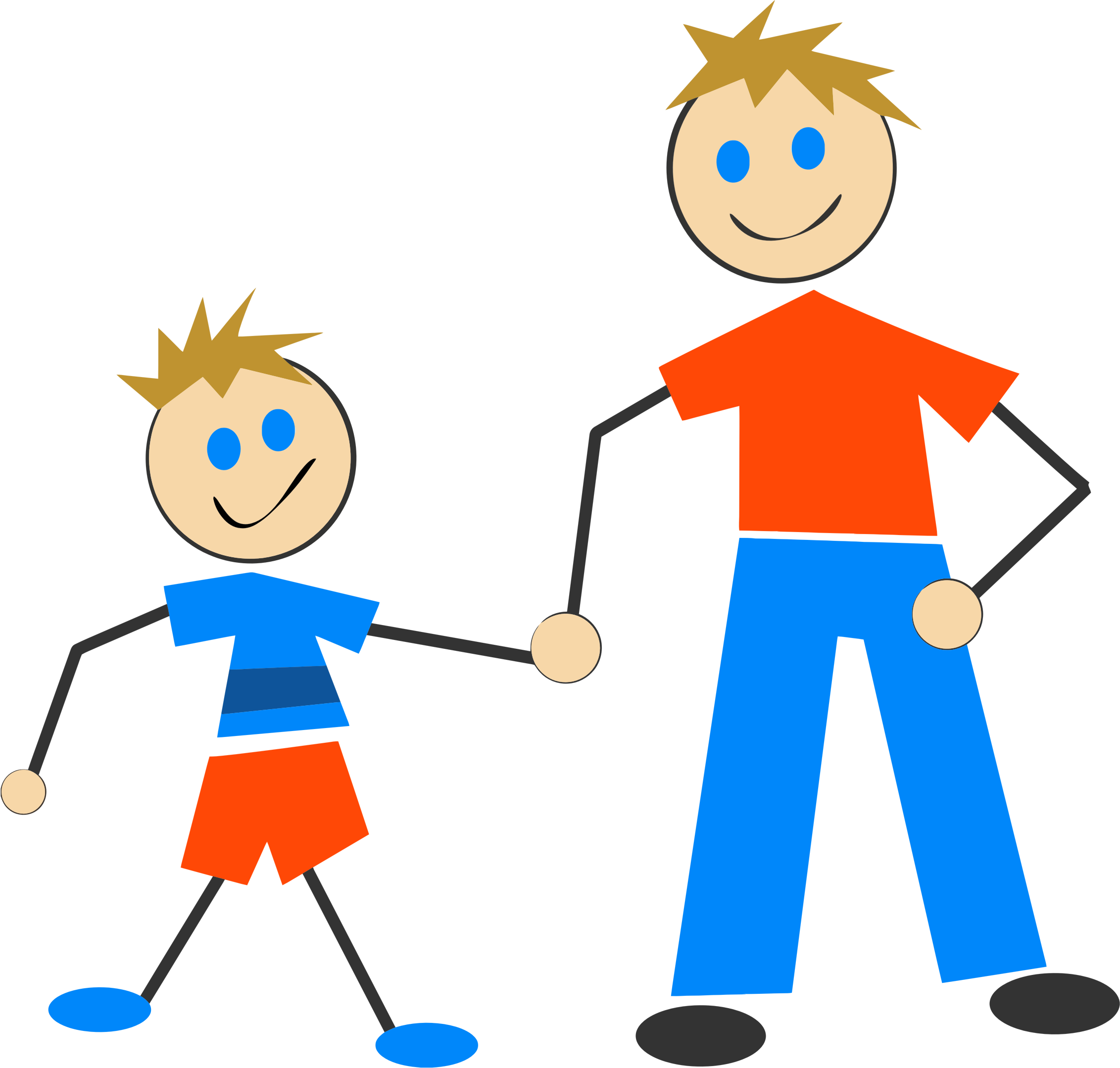 Dad clipart stick figure. And son big image