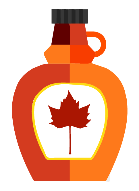 collection of maple. Cough clipart syrup