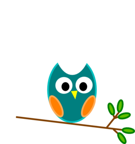 Counseling clipart cartoon. Blue and orange owl