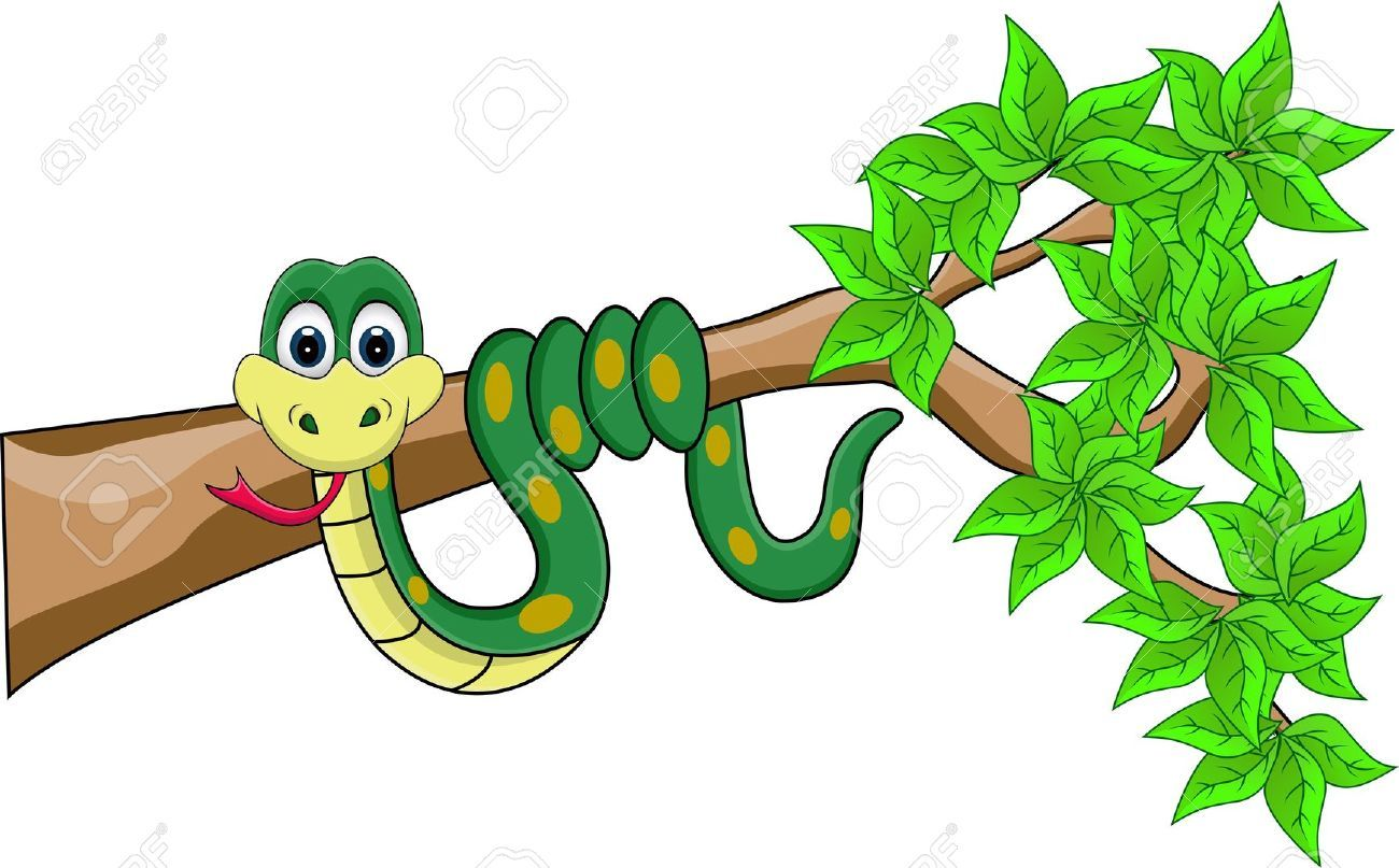 Funny snake school jungle. Counseling clipart cartoon