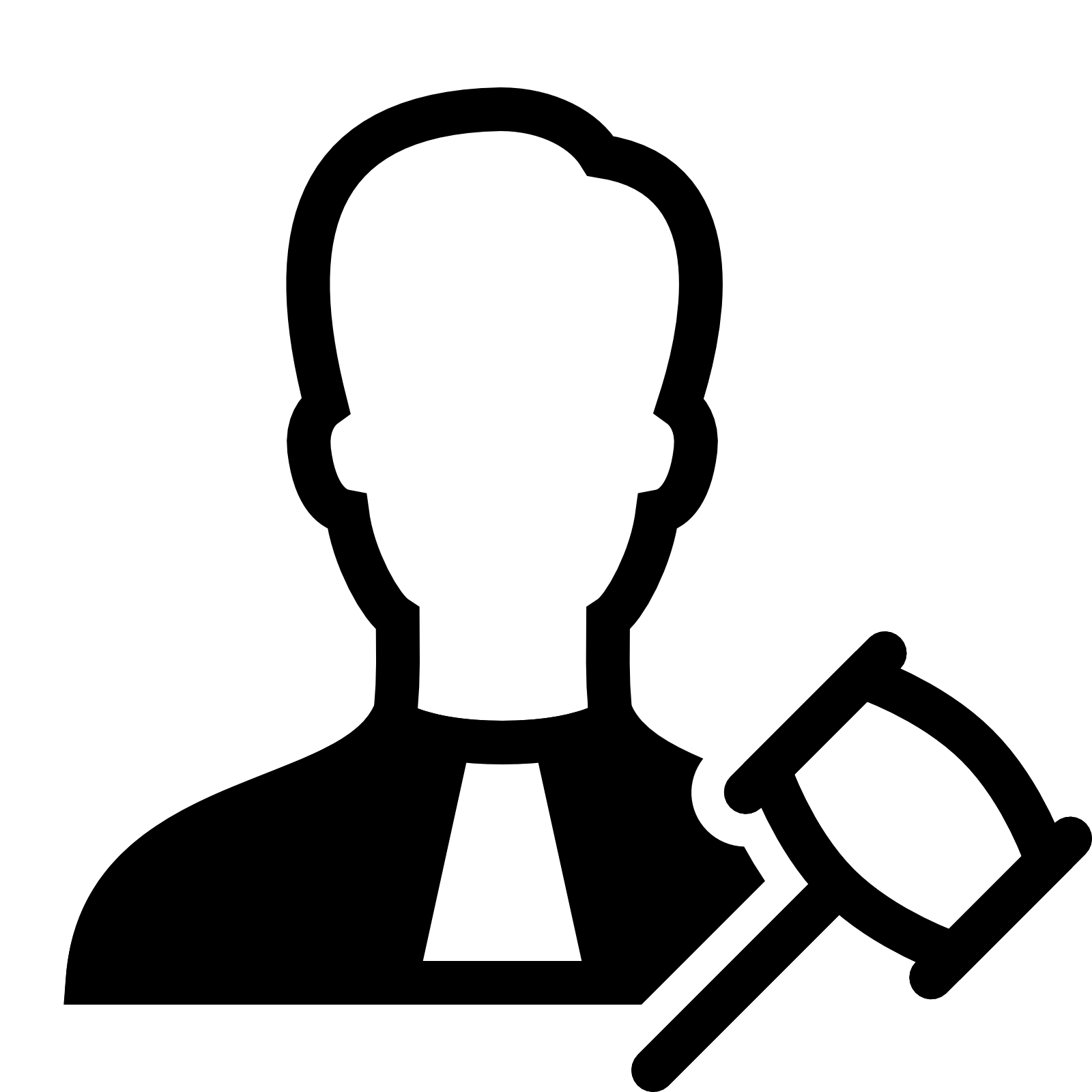 Computer icons judge court. Gavel clipart drawn