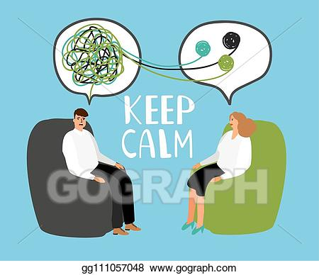 Counseling clipart psychiatrist. Vector stock keep calm