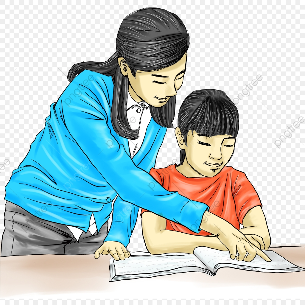 Counseling clipart tutoring. Teacher student hand drawn