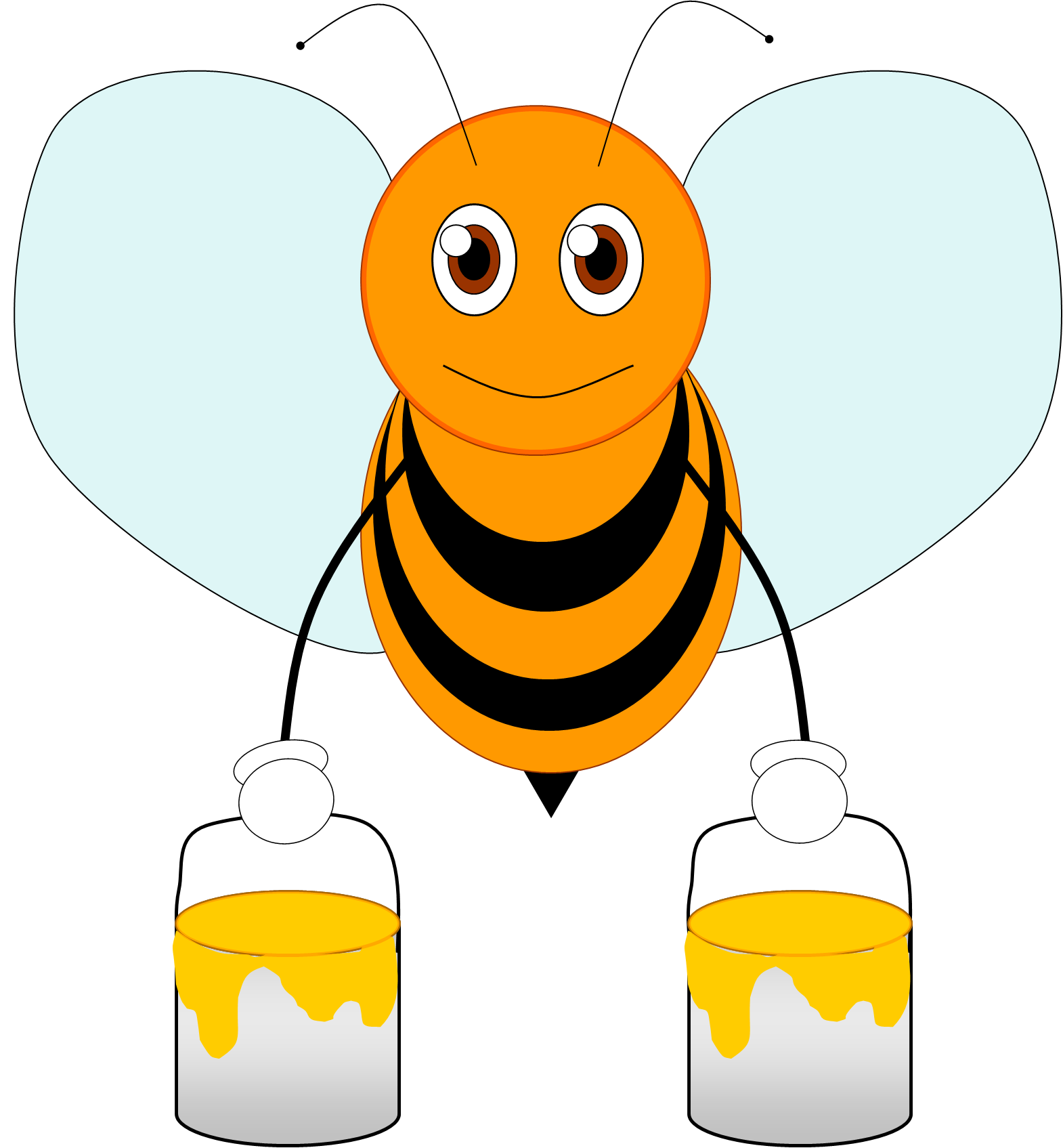 Free bee download clip. Sleigh clipart animated