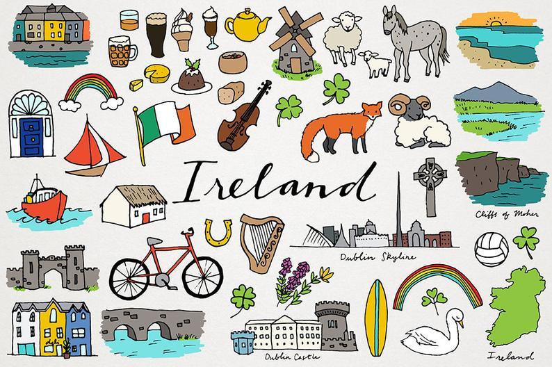 Country clipart clip art. Ireland city and dublin