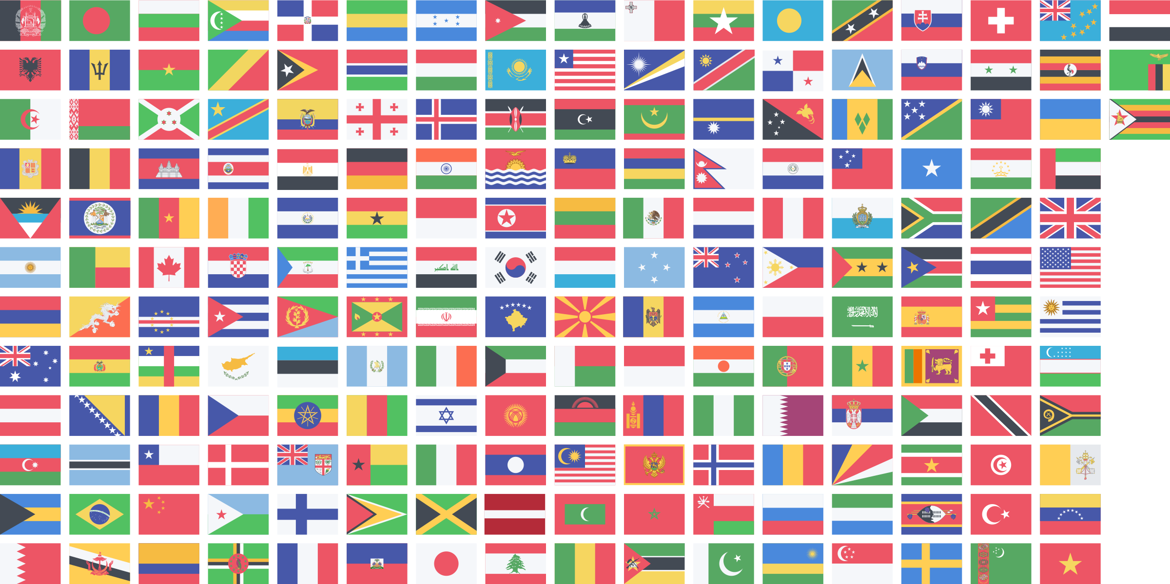 Countries flags big image. Country clipart country flag