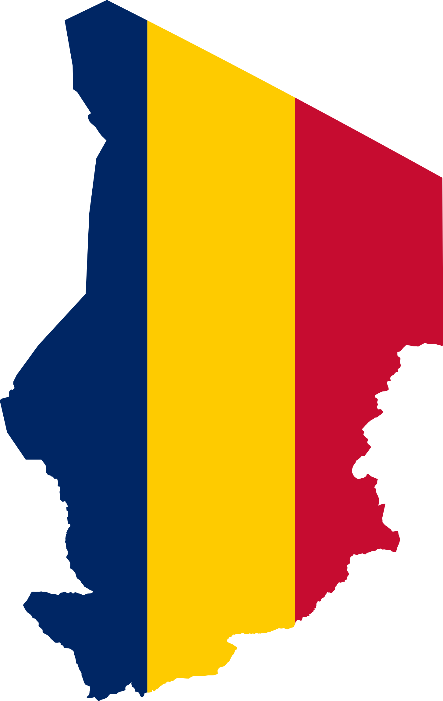 Country clipart country flag. Chad map big image