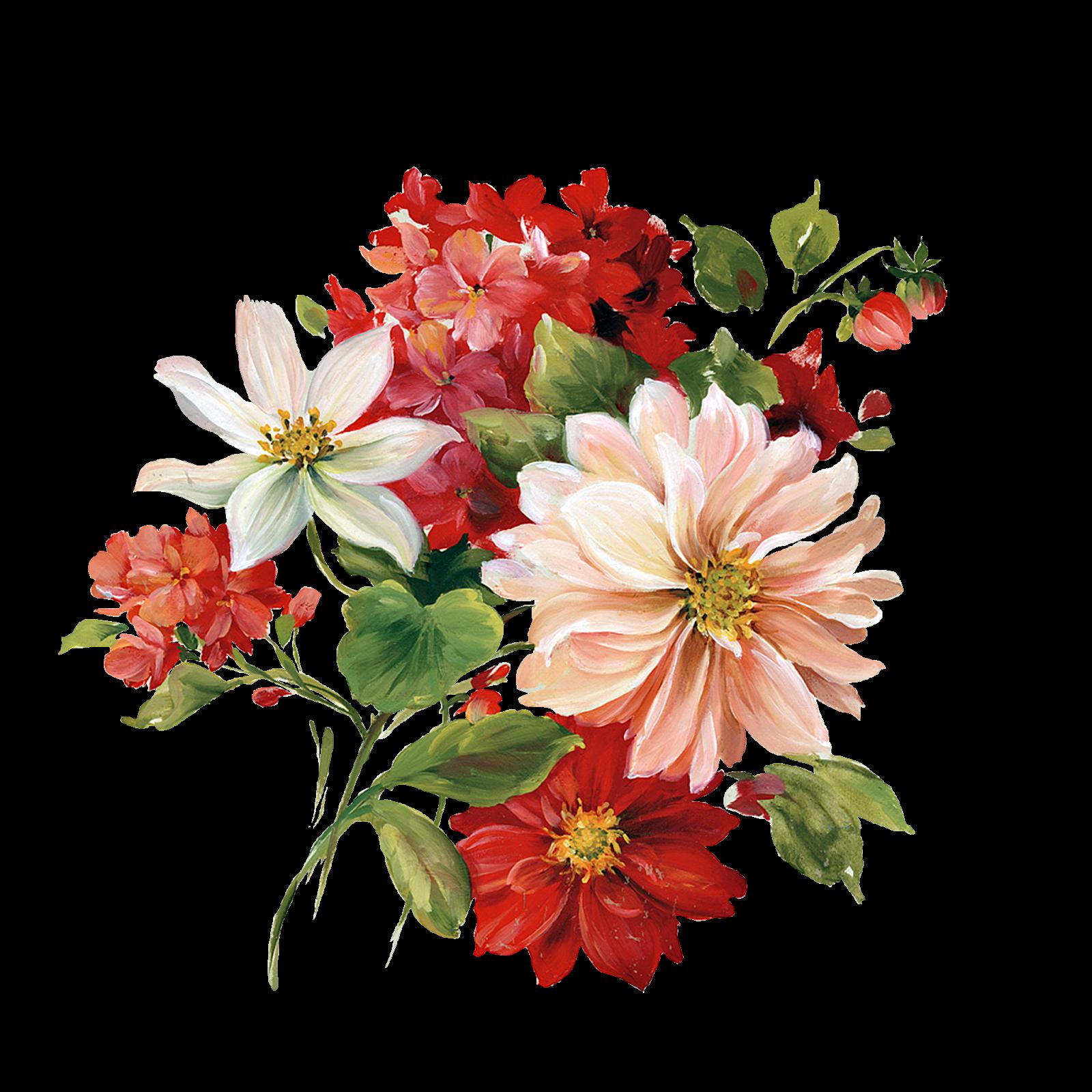 floral clipart trim