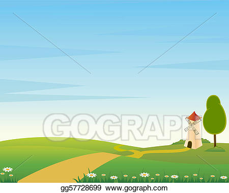 Clip art vector with. Country clipart country landscape
