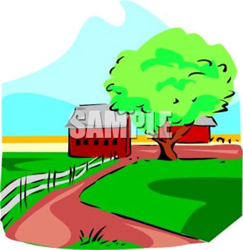 Farm road clip art. Country clipart country landscape