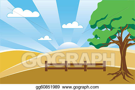 Country clipart country landscape. Eps illustration vector
