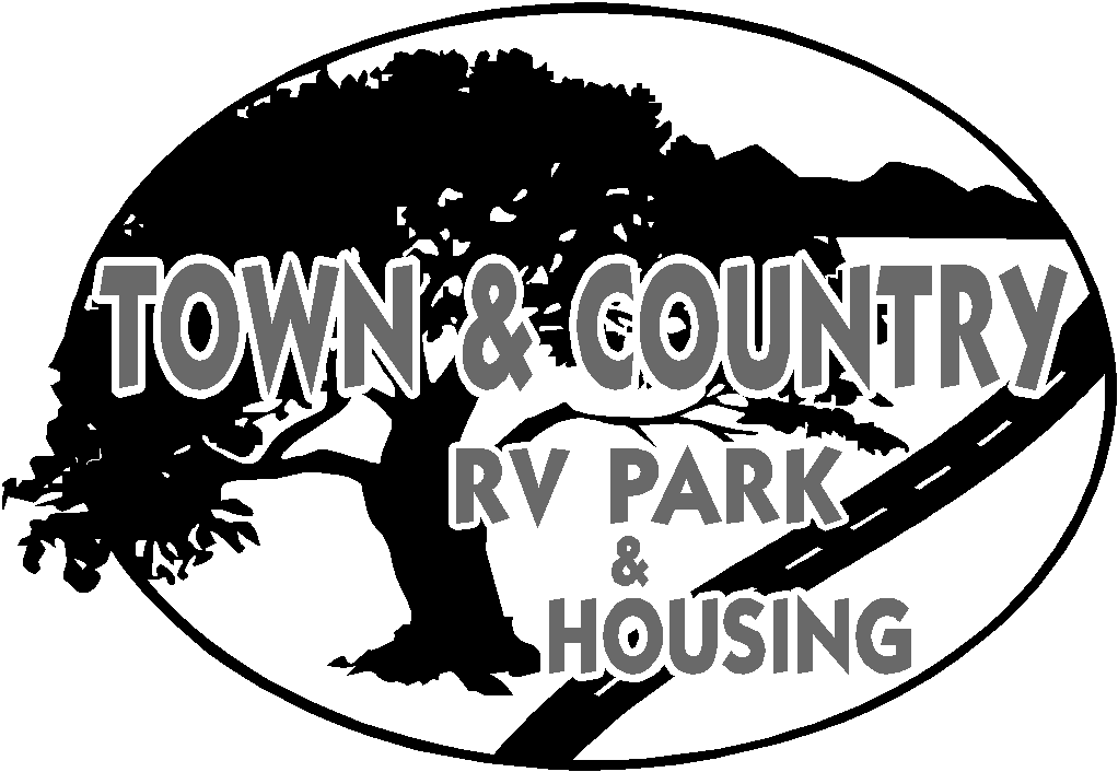Country clipart country park. Town and rv