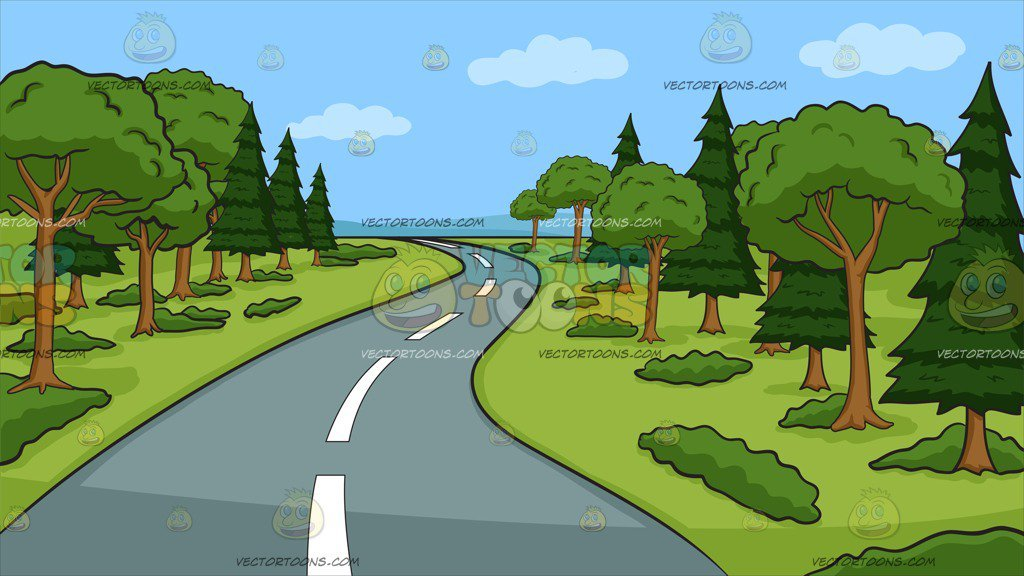 Highway clipart countryside. A winding country road