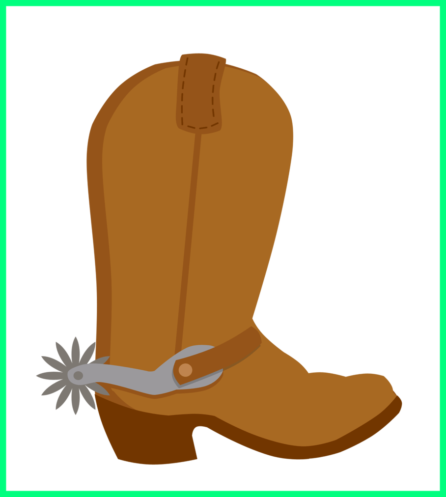 Stunning bota boot country. Cowboy clipart themed