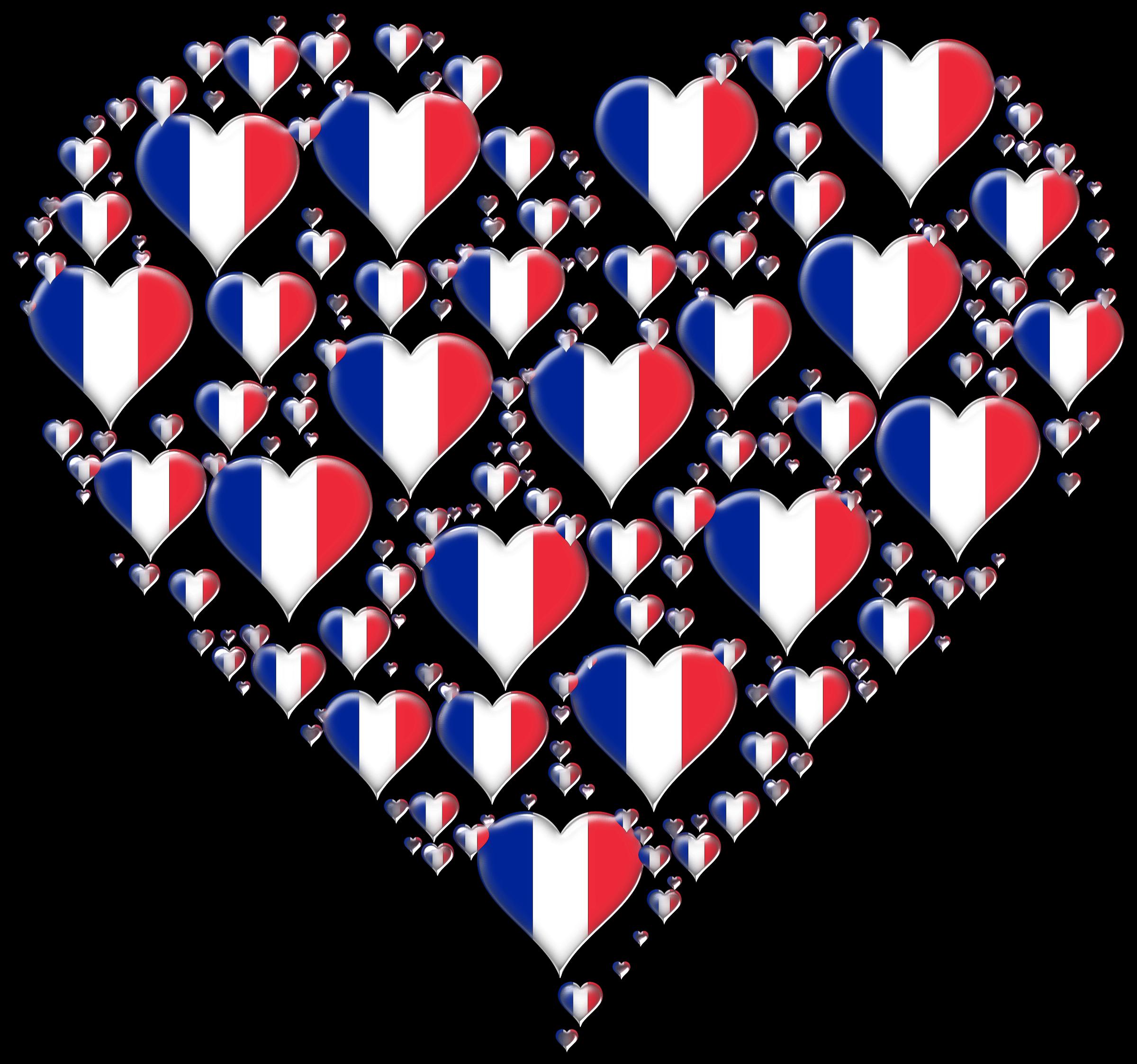 Heart fractal enhanced big. France clipart culture french