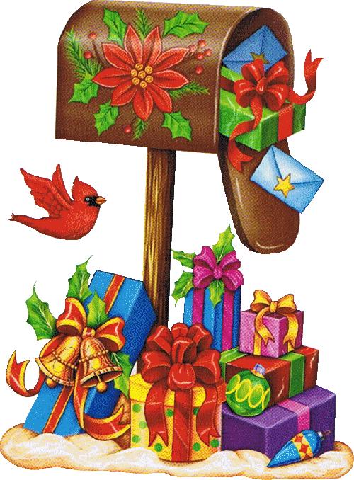 Christmas clip art. Mailbox clipart mail truck