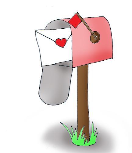 Mailbox clipart heart. Valentine mail