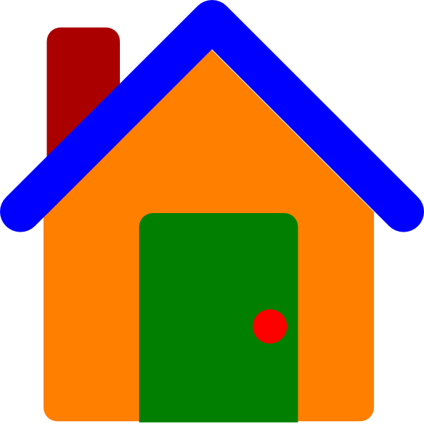 Colorfulhouse clip art at. R clipart colorful