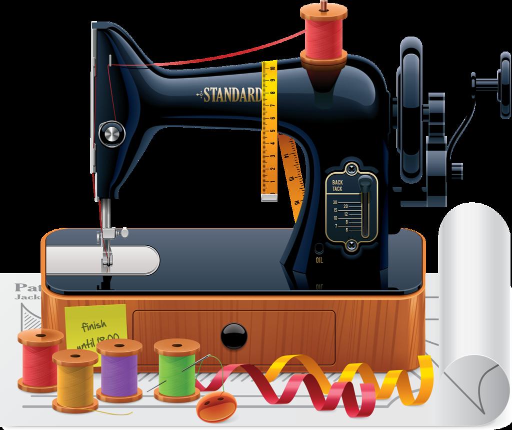 Craft clipart sewing box.  b e deb