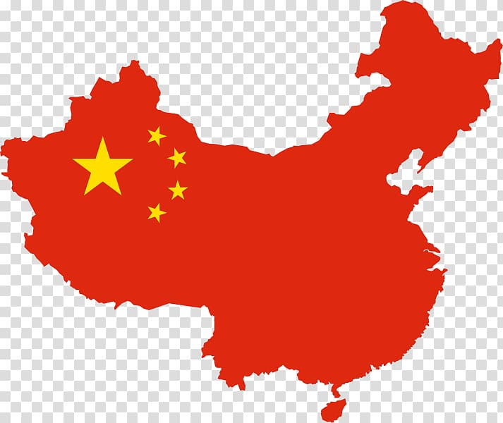 China map illustration flag. Country clipart transparent