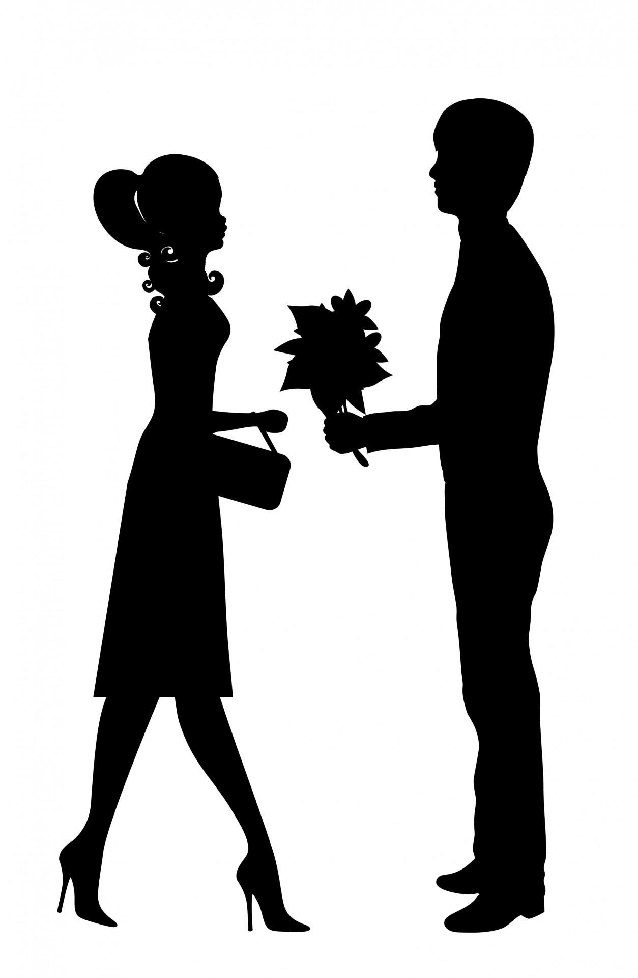 Couple clipart. Romantic young free stock