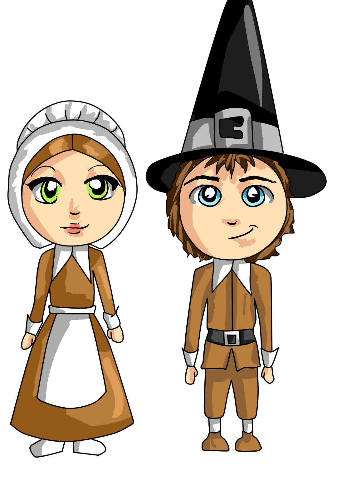 Animated . Hunter clipart pilgrim