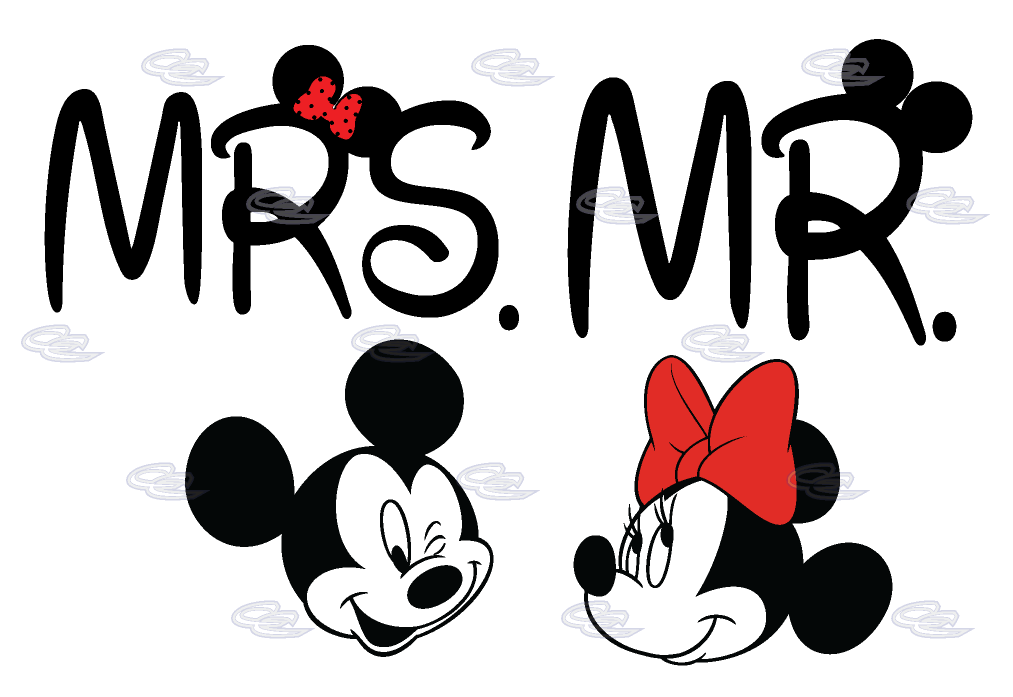 Couple clipart attraction. Disney mr mrs matching