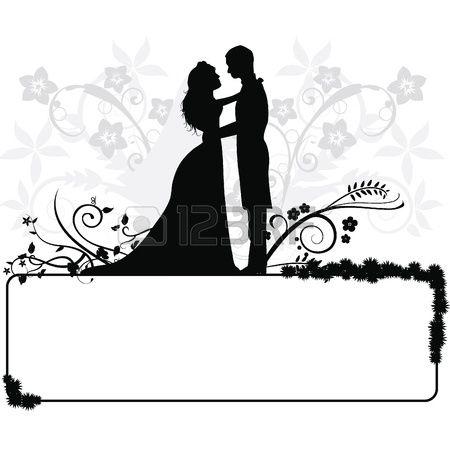 Stock vector wedding ideas. Couple clipart celebration