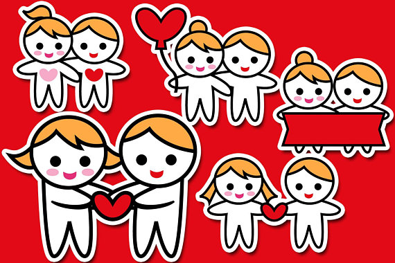Love valentine for planner. Couple clipart date night