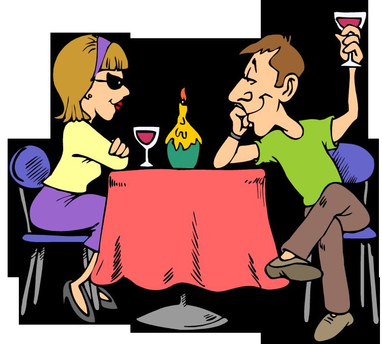 Dating lunch clip art. Kiss clipart first date