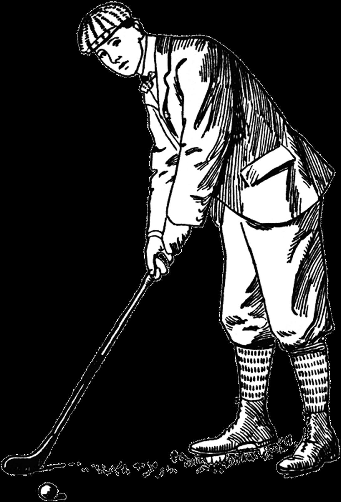 Golf clipart hockey ball. Golfer drawing at getdrawings