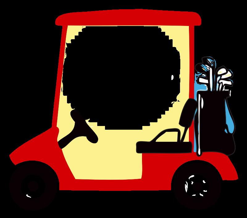 Cart group. Golf clipart artwork