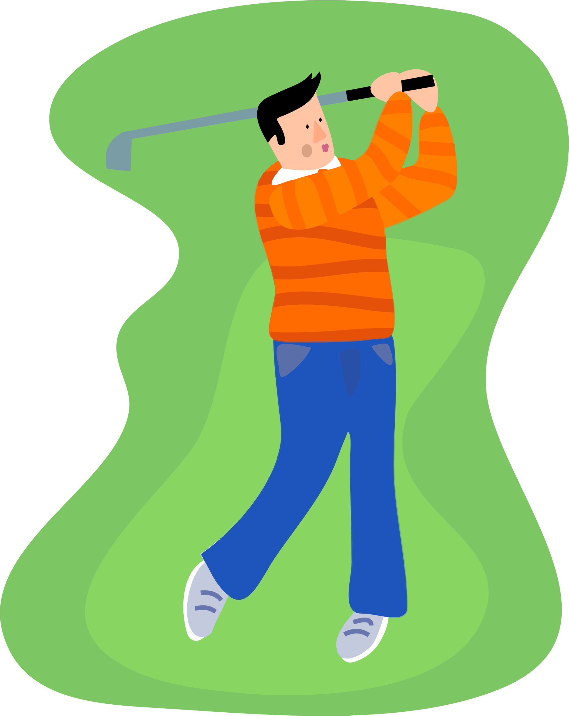 Golfer clipart boy. Golfing guy icons png