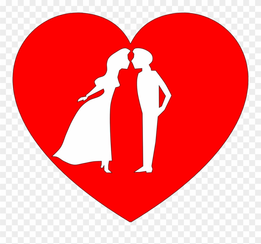 Couple clipart heart. Free in