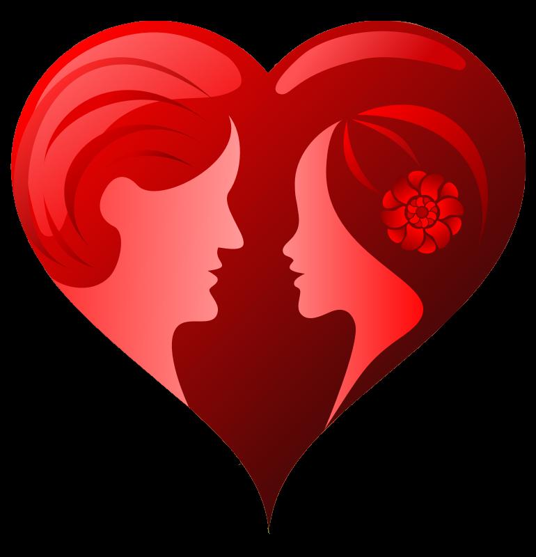 Couples hearts . Couple clipart heart