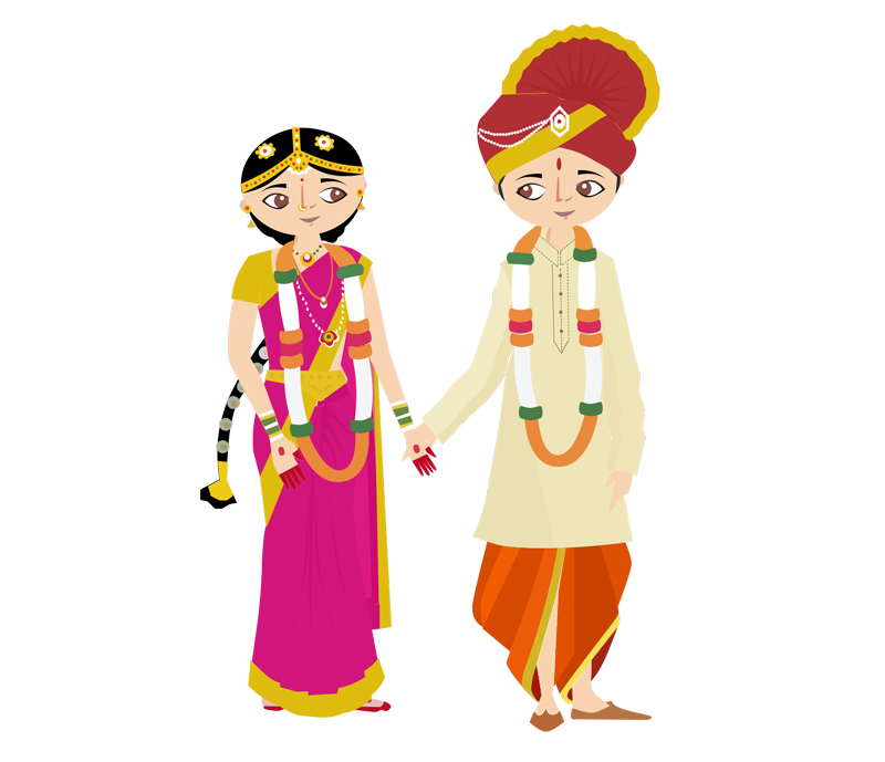 Indian Wedding Png Vector Transparent Indian Wedding