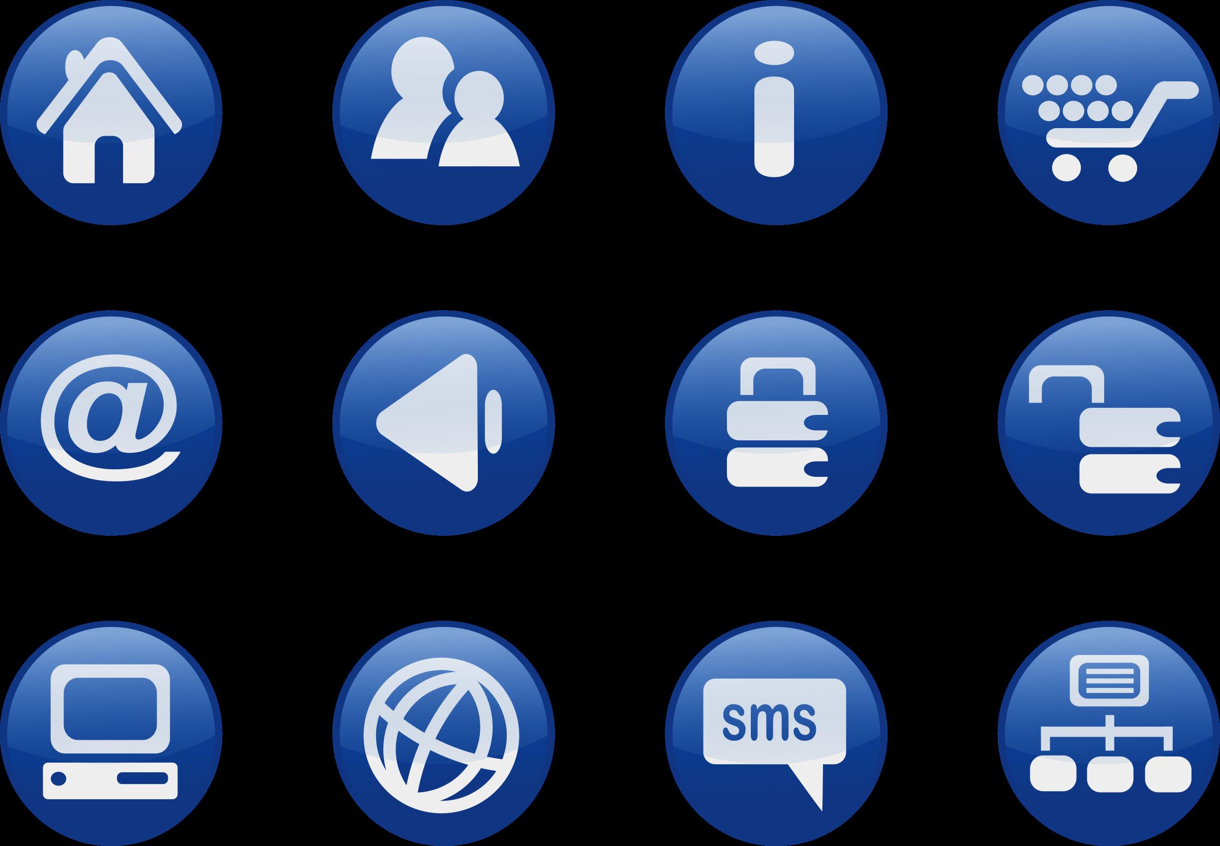 Web icons big image. Website clipart website button
